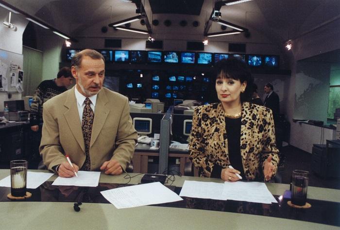 Zbyněk Merunka a Eva Jurinová v relaci Televizní noviny, zdroj: TV Nova