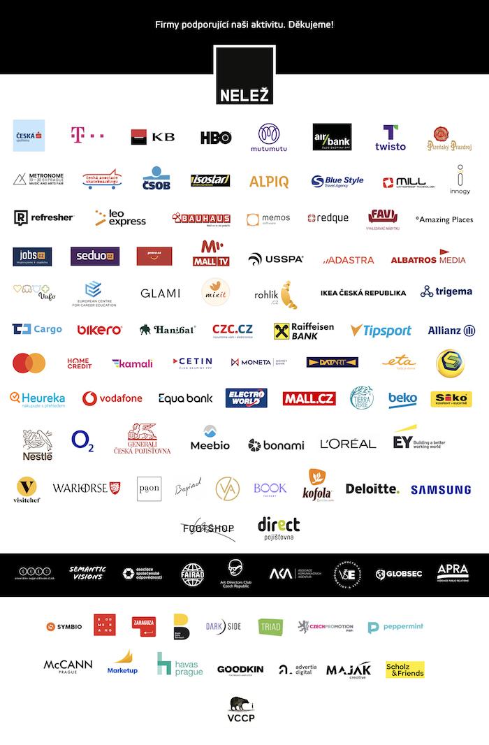Podporovatelé boje proti reklamě na dezinformačních webech, zdroj: Nelež