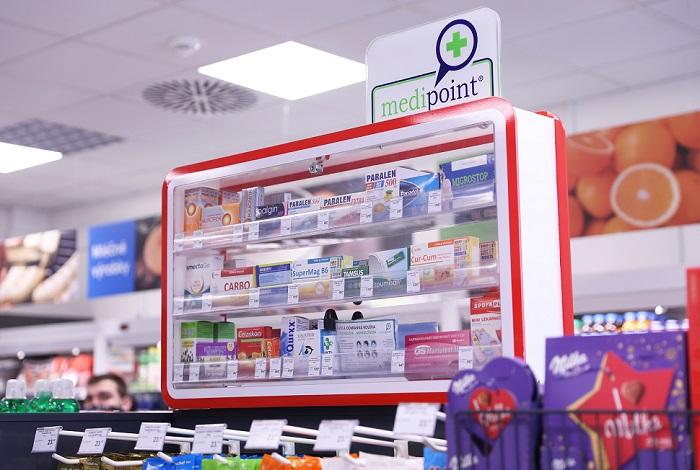 Žabka od ledna nabízí na zhruba 30 prodejnách volně prodejné léky, zdroj: Žabka