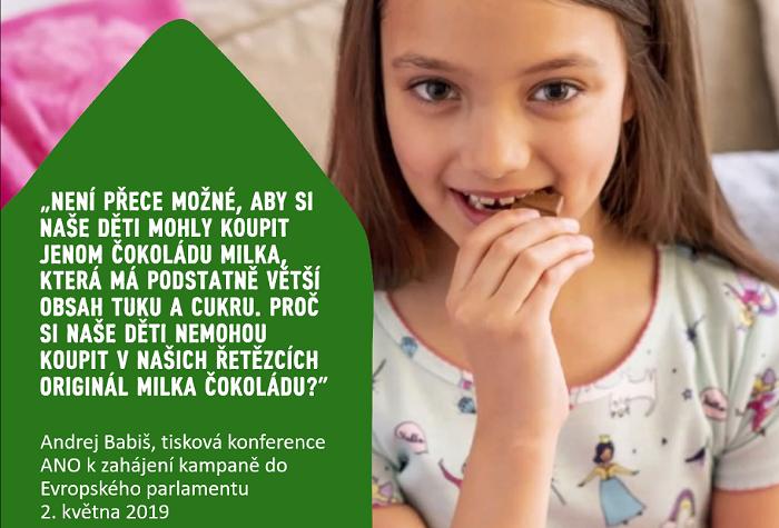 V roce 2019 se musela značka Milka ohradit proti výroku premiéra, ten se jí pak opakovaně omluvil, zdroj: Mondeléz