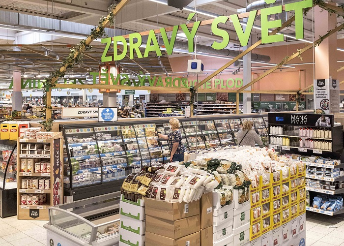 Za posledních 7 let rostou tržby za zdravé potraviny téměř dvakrát rychleji než za ty nezdravé, zdroj: Globus