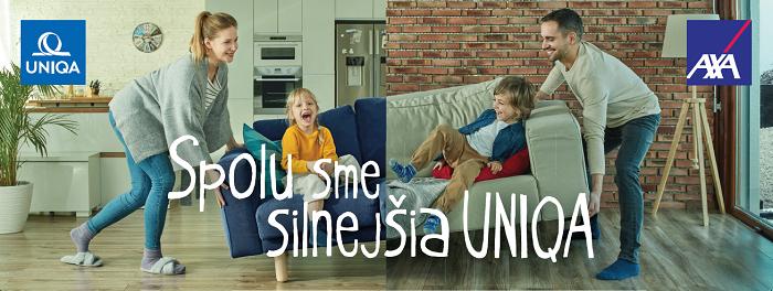 Hlavní vizuál kampaně (pro SR i ČR v příslušné jazykové mutaci), zdroj: Uniqa