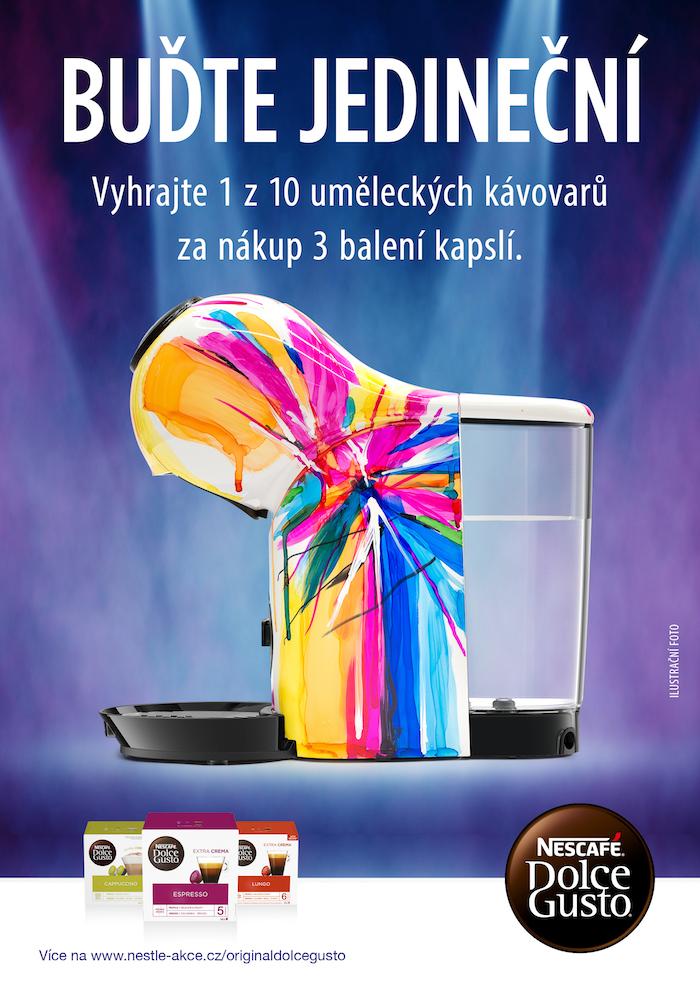 Klíčový vizuál ke kampani Nescafé Dolce Gusto, zdroj: Nestlé