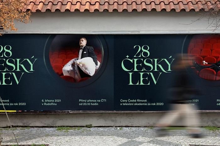 Vizuál k 28. ročníku soutěže Český lev, zdroj: ČFTA