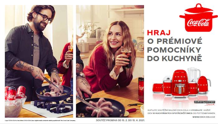 Součástí kampaně je i spotřebitelská soutěž o kuchyňské potřeby Potten&Pannen, zdroj: Coca-Cola.