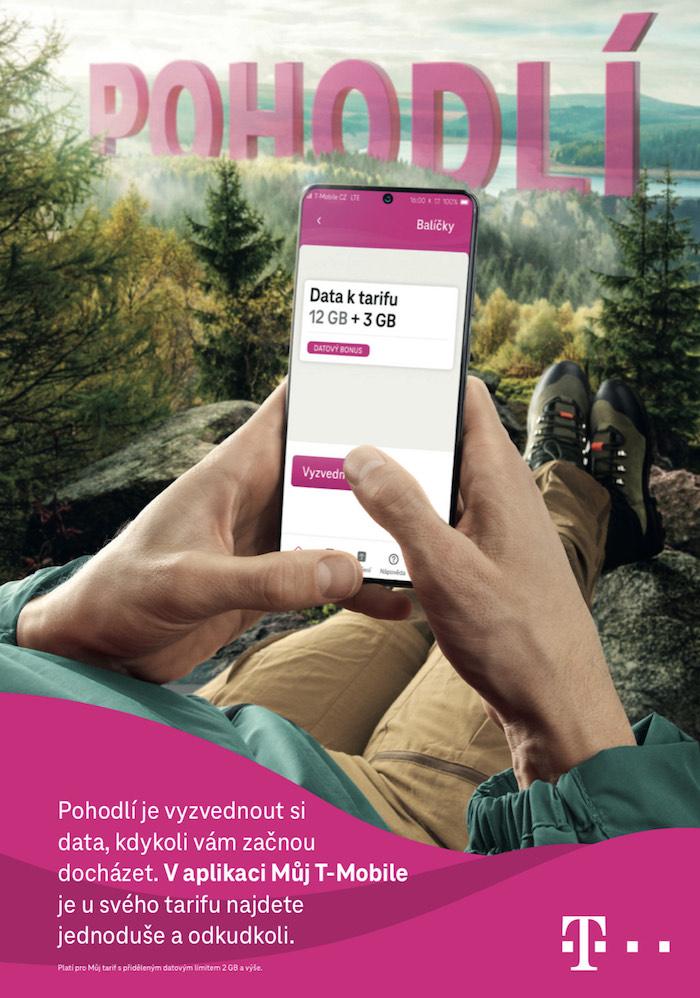 Jeden z klíčových vizuálů jarní kampaně operátora T-Mobile, zdroj: T-Mobile