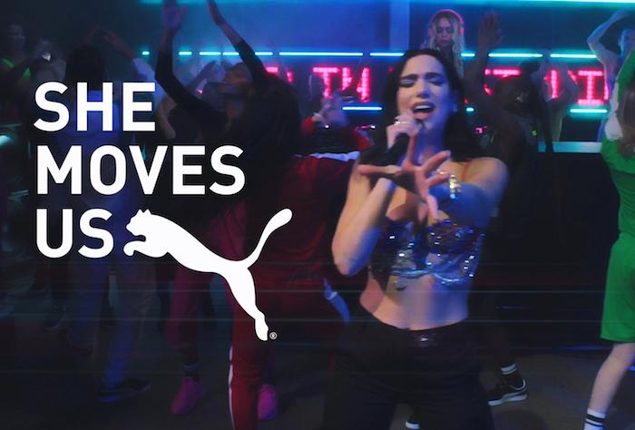 Jednou z tváří aktuální kampaně značky Puma je i zpěvačka Dua Lipa, zdroj: Puma.