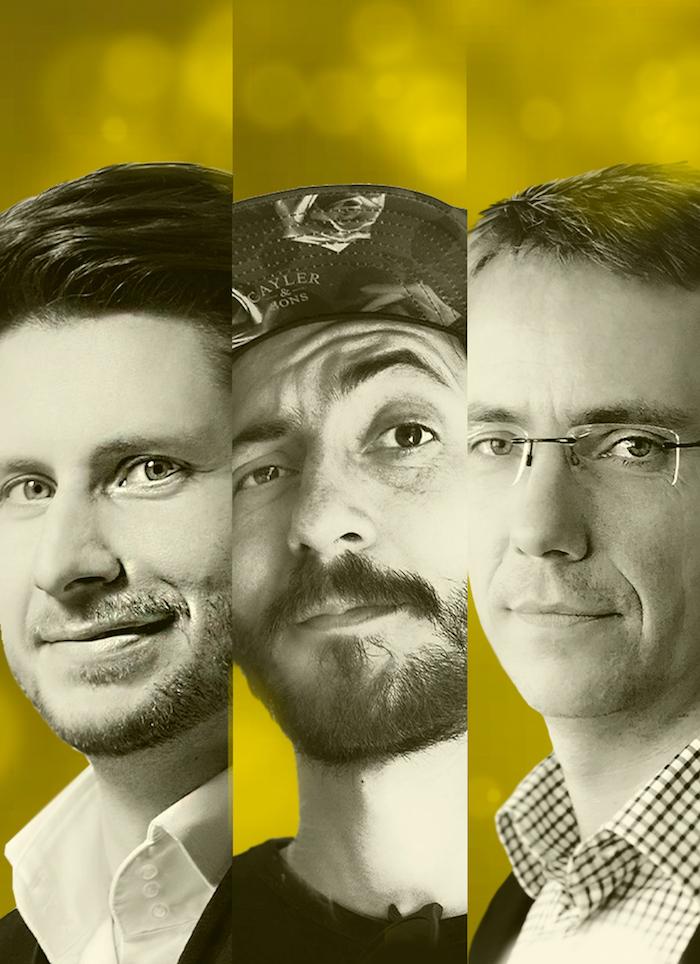 Marian Fury, Michal Pastier a Martin Blaško zakládají novou hybridní agenturu Darwin and the Machines, zdroj: Darwin and the Machines.