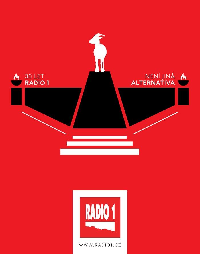 Vizuál Radia 1 k 30. výročí vysílání