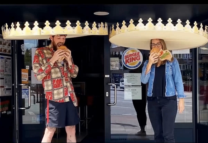 Burger King zareagoval na nutnost rozestupů, zdroj: Popai UK&Ireland