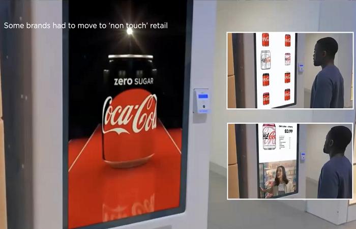 Coca-Cola vytvořila kiosek pro bezdotykový prodej nápojů, zdroj: Popai UK&Ireland