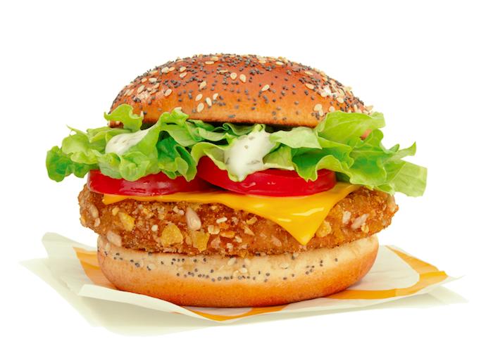 Veggi burger, zdroj: McDonald's
