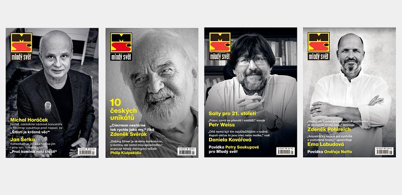 Titulní strany obnoveného časopisu Mladý svět, rok 2021, zdroj: A 11