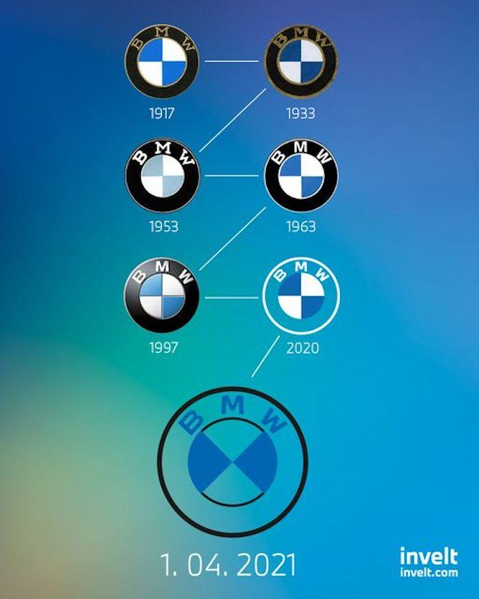 Aprílové logo od BMW, zdroj: FB Invelt Praha I Plzeň