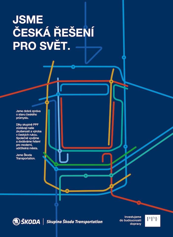 Klíčový vizuál kampaně Škoda Transportation, zdroj: PPF