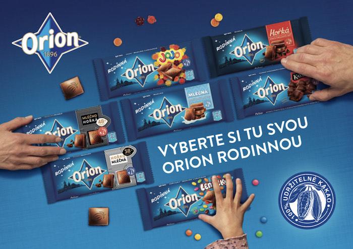 Klíčový vizuál ke kampani na Orion Rodinná, zdroj: Nestlé
