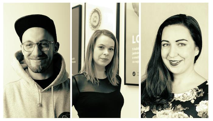 Nové tváře v Symbiu (zleva): digitální stratég Jan Král, kreativní ředitelka Michaela Pechanová, PR manažerka Zuzana Fuxová, zdroj: Symbio