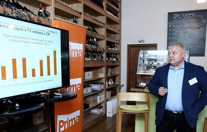 Ladislav Dianiška prezentuje obchodní politiku, foto: FTV Prima
