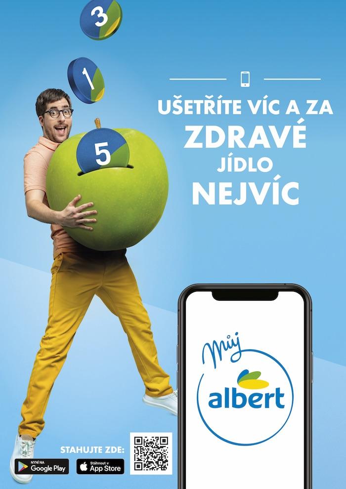 Klíčový vizuál ke kampani na podporu aplikace Můj Albert, zdroj: Albert