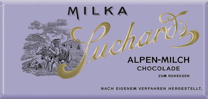 První obal čokolády Milky z roku 1901, zdroj: Mondelēz