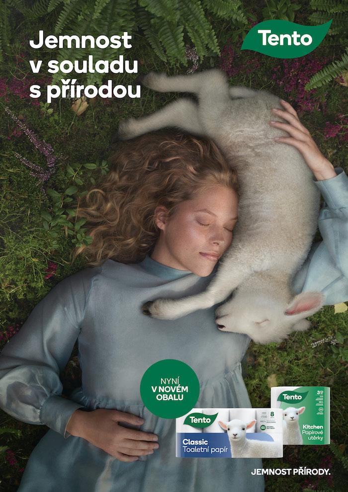Jeden z klíčových vizuálů nové kampaně značky Tento, zdroj: Metsä Tissue