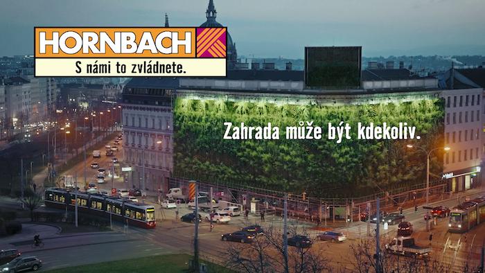 """Klíčový vizuál ke kampani """"Zahrada může být kdekoliv"""", zdroj: Hornbach"""