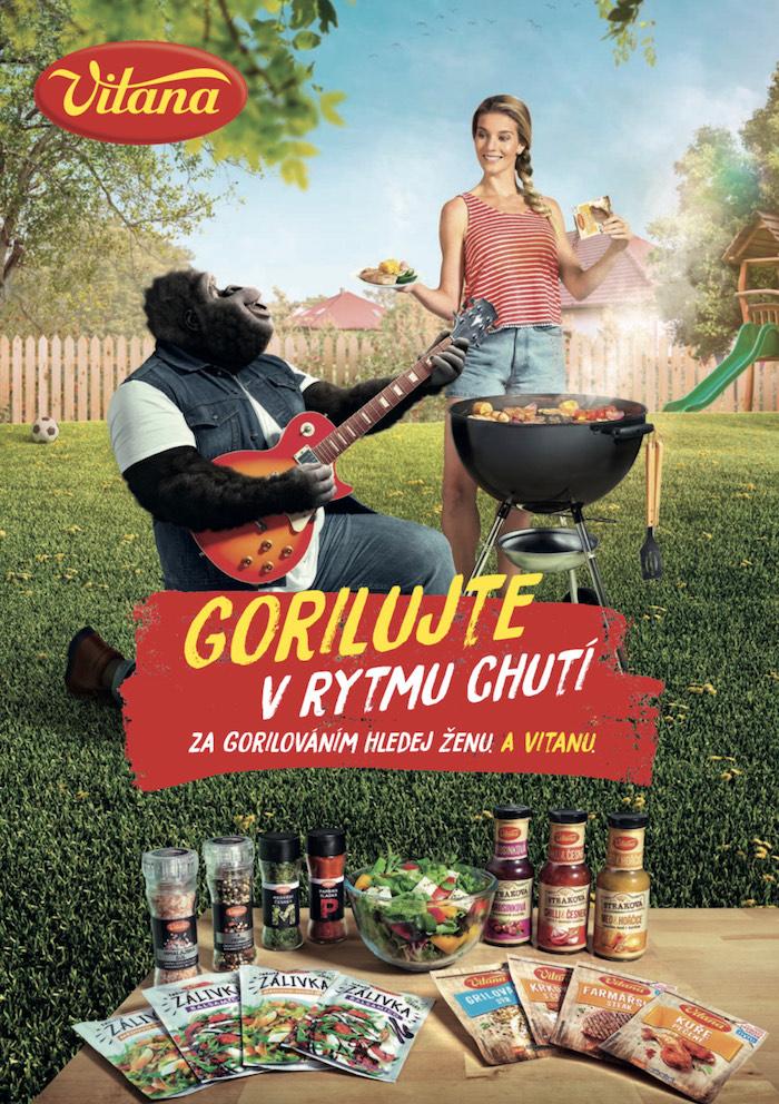 Klíčový vizuál k letošní grilovací kampani značky Vitana, zdroj: Orkla Foods