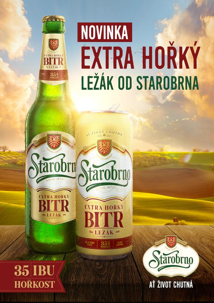 Ukázka klíčového vizuálu k uvedení hořkého ležáku Starobrno Bitr, zdroj: Heineken