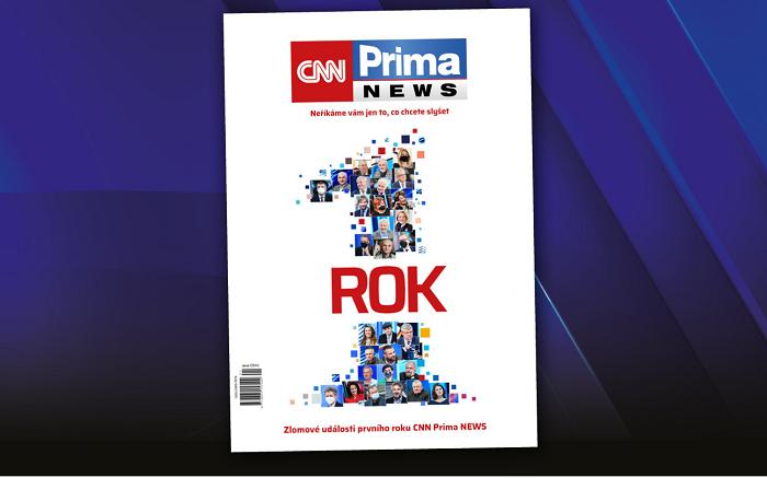 Titulní strana magazínu, který vyjde pří příležitosti ročního výročí CNN Prima News, zdroj: FTV Prima