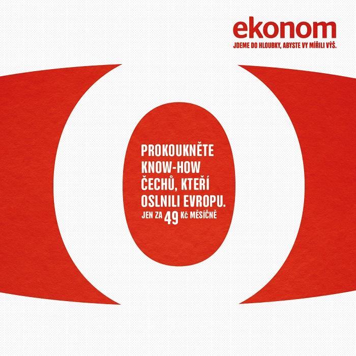 Vizuál kampaně týdeníku Ekonom, zdroj: Economia