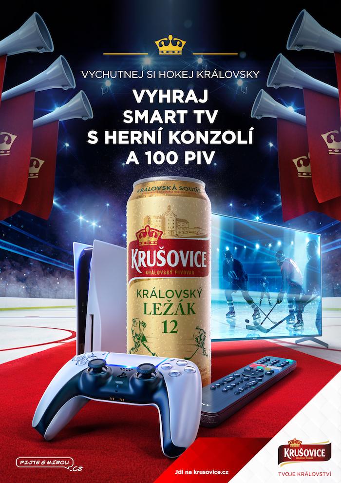 Klíčový vizuál k hokejové kampani Krušovice, zdroj: Heineken