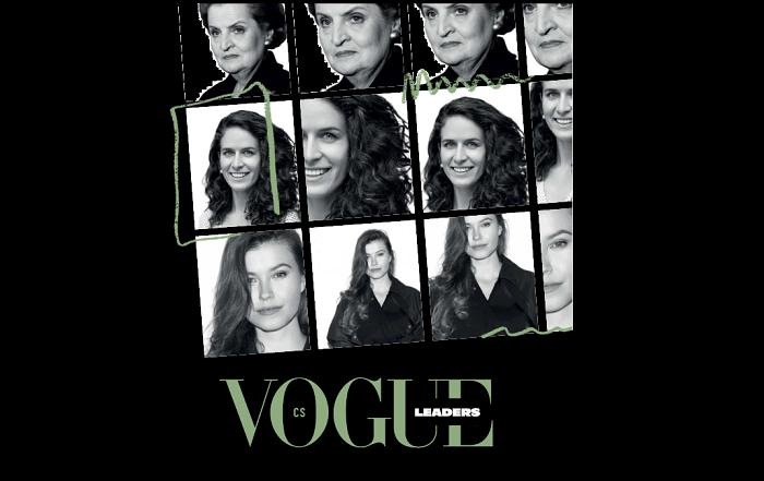 Z vizuálu upozorňujícího na vydání edice Vogue Leaders, zdroj: V24 Media