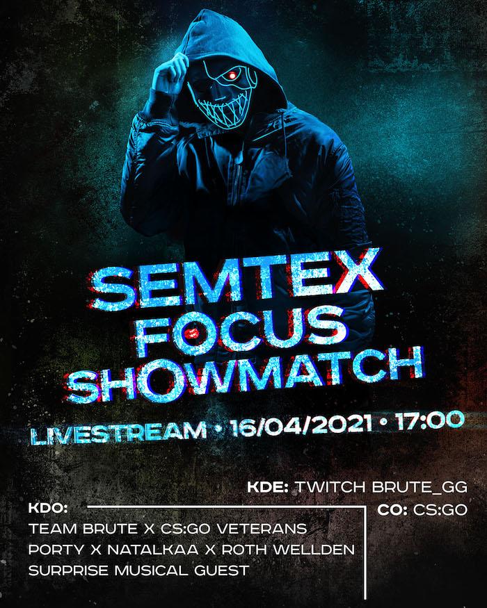Ukázka pozvánky na showmatch na Twitchi, zdroj: Semtex