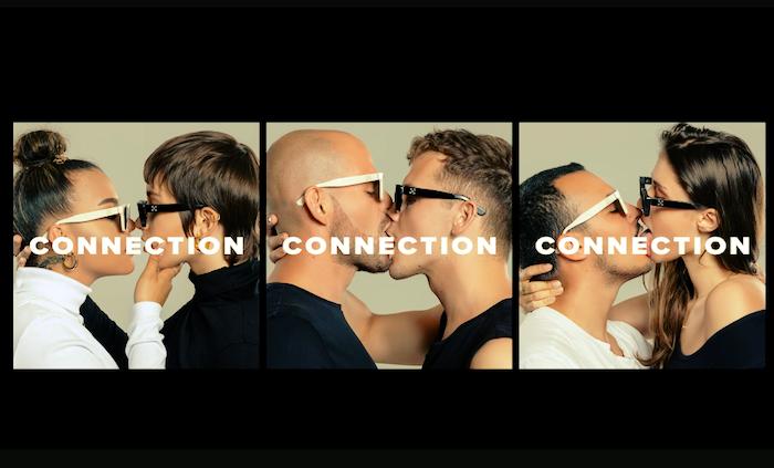 Vizuály s líbajícími se páry jako spolupráce se značkou slunečních brýlí Retrosuperfuture vyvolaly negativní ohlasy, zdroj: Footshop.