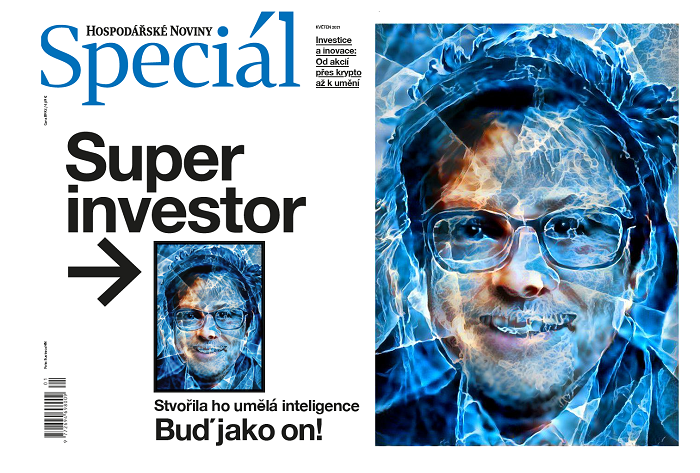 Titulní strana speciálu HN, vpravo detail titulní strany, zdroj: Economia