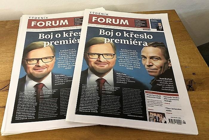 Podoba nového Týdeníku Forum, zdroj: MediaGuru.cz