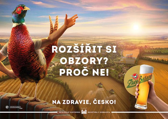Klíčový vizuál k nové kampani značky Zlatý Bažant, zdroj: Heineken