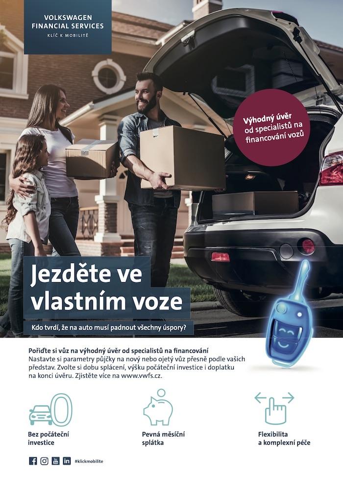 Klíčový vizuál k nové komunikaci Volkswagen Finacial Services, zdroj: VWFS
