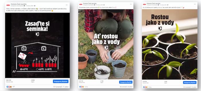 Ukázka obsahu na sociálních sítích, který motivoval k výsadbě paprik Ajvar. Zdroj: prezentace Fuse