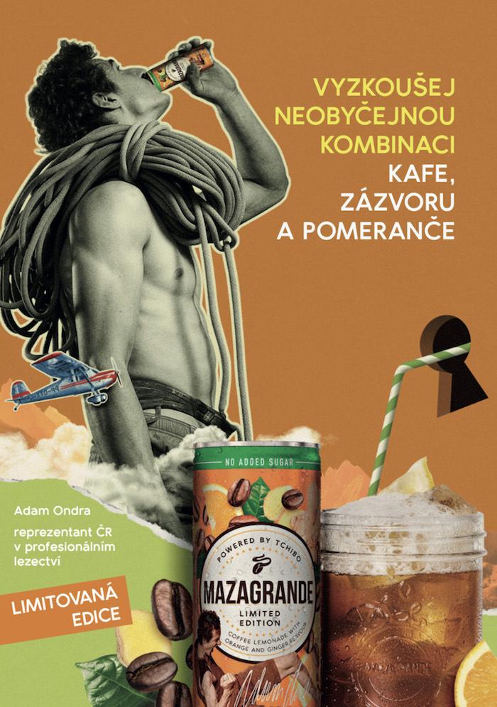 Klíčový vizuál k podpoře limitované edice Mazagrande Ginger & Orange s Adamem Ondrou, zdroj: Tchibo