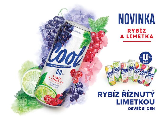 Cool přidává letos novou příchuť Rybíz a limetka, zdroj: Pivovary Staropramen