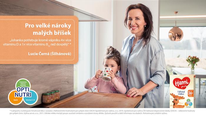 Jednou z tváří nové kampaně Hami je i moderátorka Lucie Šilhánová, zdroj: Hami.