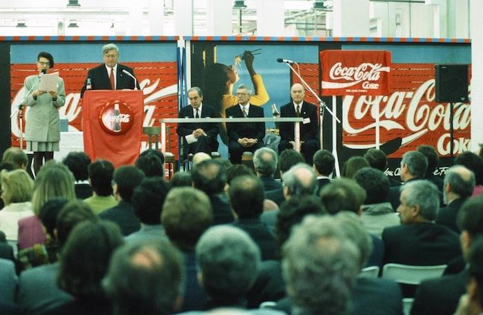 Otevření závodu Praha-Kyje, zdroj: Coca-Cola