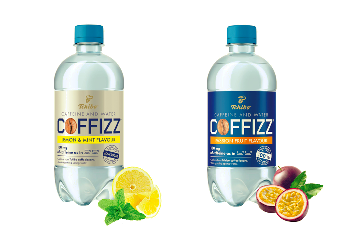 Tchibo Coffizz nabídne dvě varianty –s ovocnou příchutí marakuji nebo citrónu a máty, zdroj: Tchibo Praha.