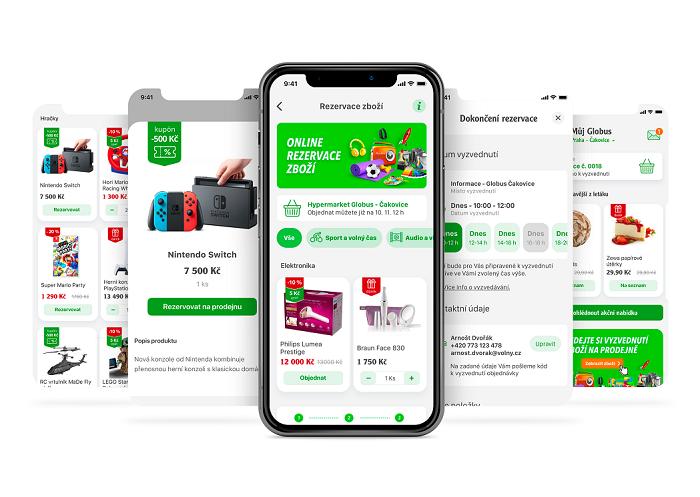 Objednání potravin z vlastních pekáren a řeznictví Globus nyní pilotně zkouší v hypermarketu v Praze Čakovicích, zdroj: Globus