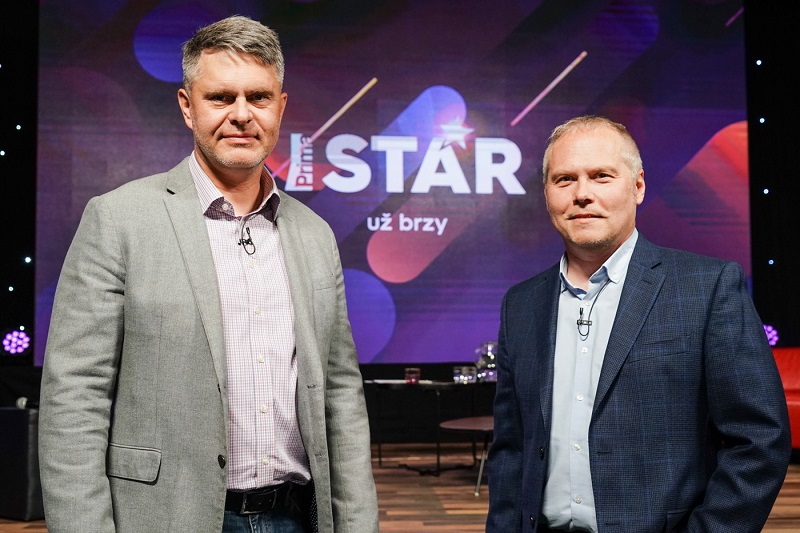 Generální ředitel skupiny Prima Marek Singer a programový ředitel Roman Mrázek, zdroj: FTV Prima