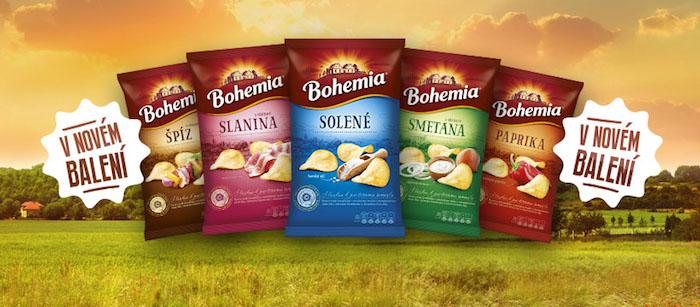 Nové obaly značky Bohemia chips, foto: Intersnack