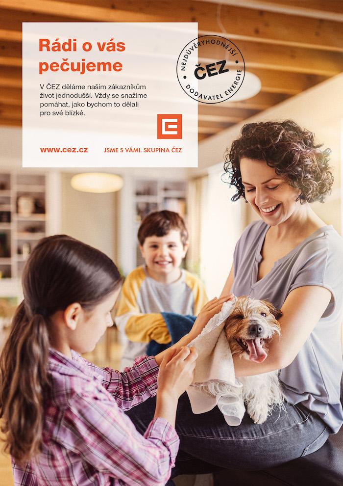 Klíčový vizuál imageové kampaně ČEZ, zdroj: ČEZ Prodej
