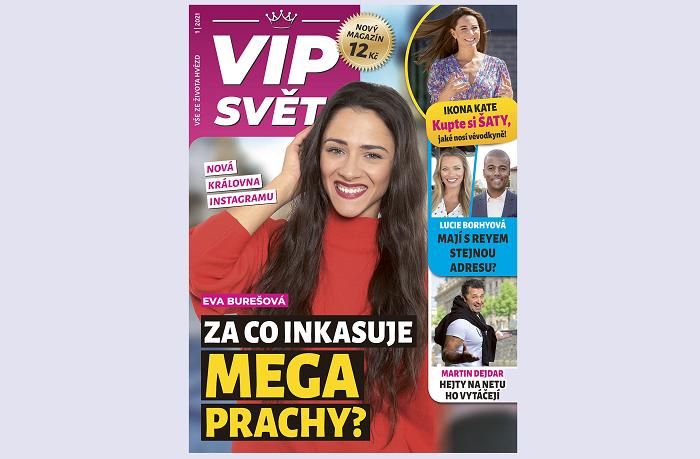 Titulní strana prvního vydání čtrnáctideníku VIP Svět, zdroj: Empresa Media