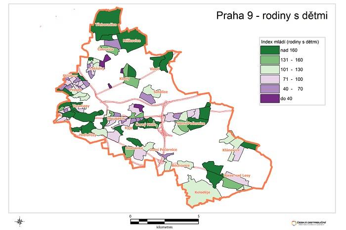 Základem pro geomarketing je aktuální celorepubliková databáze domácností, zdroj: Česká distribuční
